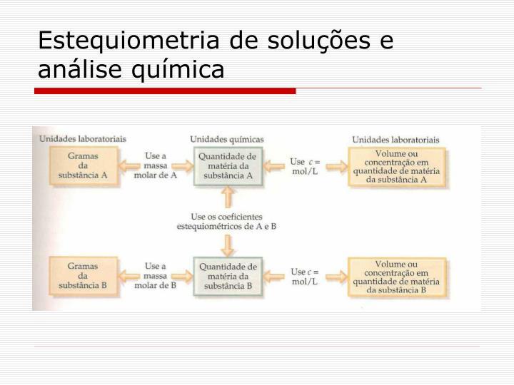 Estequiometria de soluções e análise química