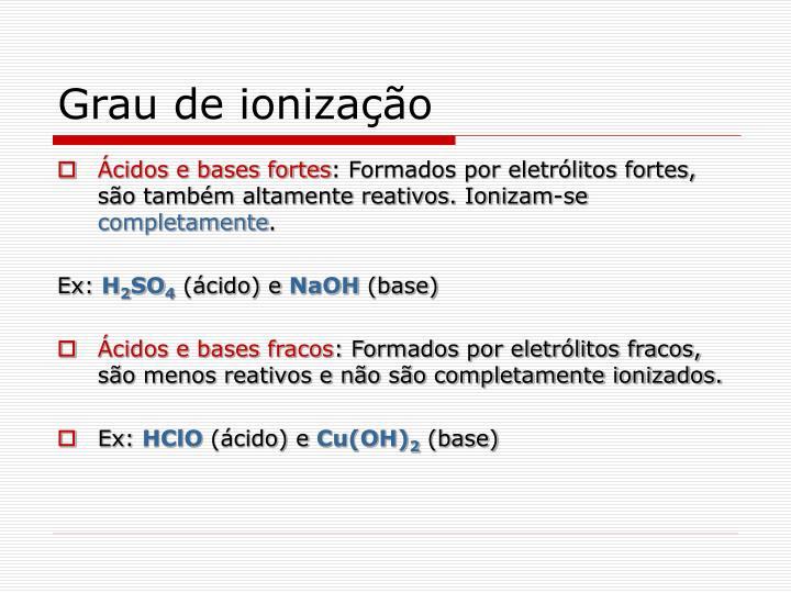 Grau de ionização