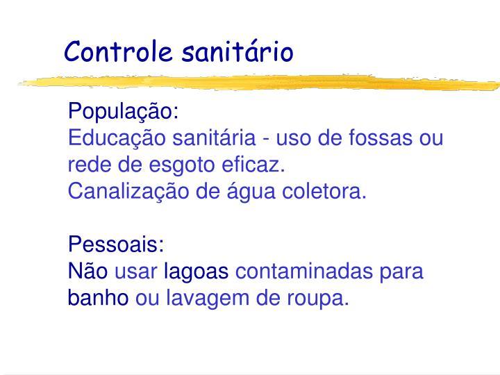 Controle sanitário