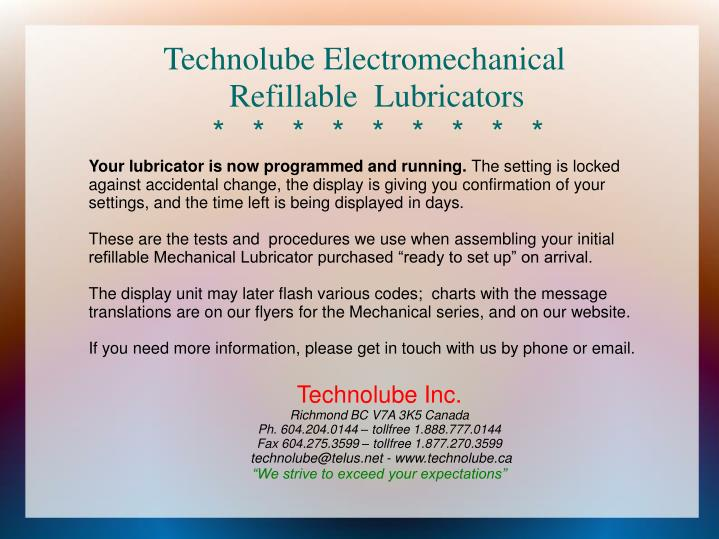 Technolube Electromechanical