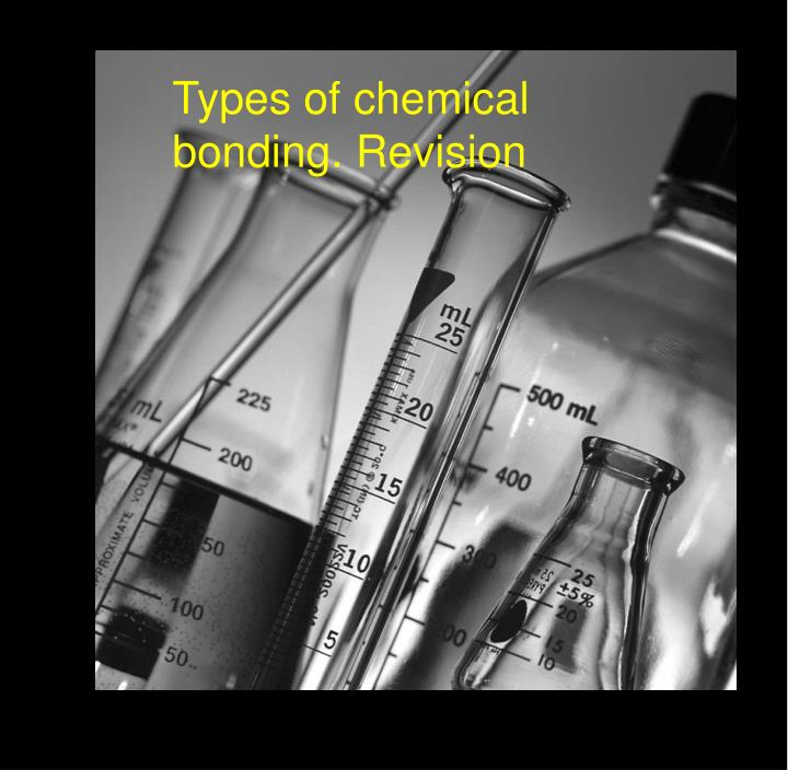 Types of chemical bonding. Revision