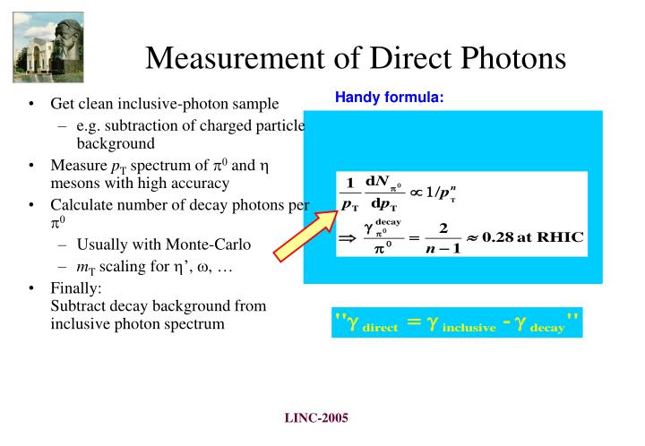 Measurement of Direct Photons