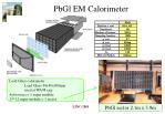 pbgl em calorimeter