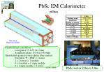 pbsc em calorimeter
