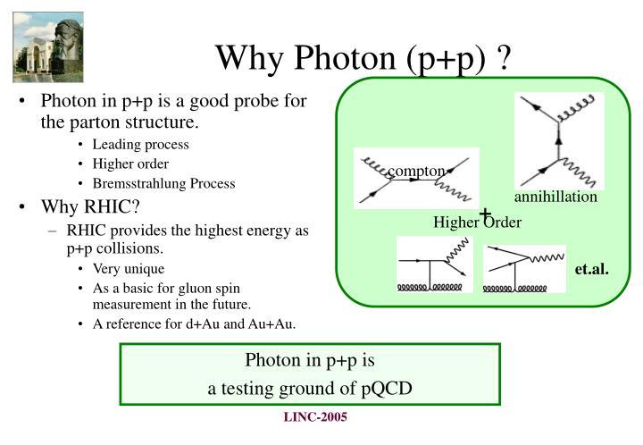 Why Photon (p+p) ?