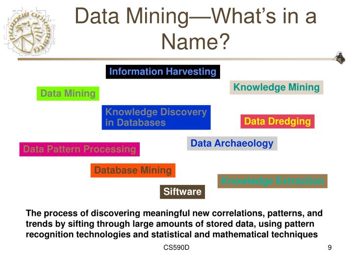 Data Mining—What's in a Name?