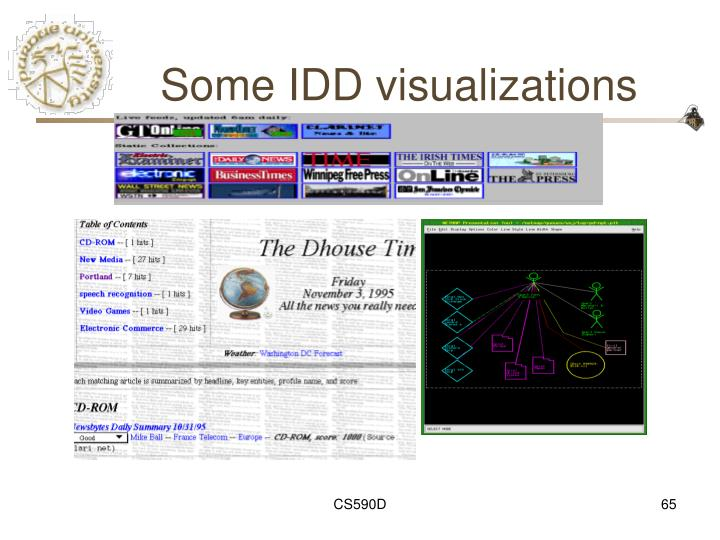 Some IDD visualizations