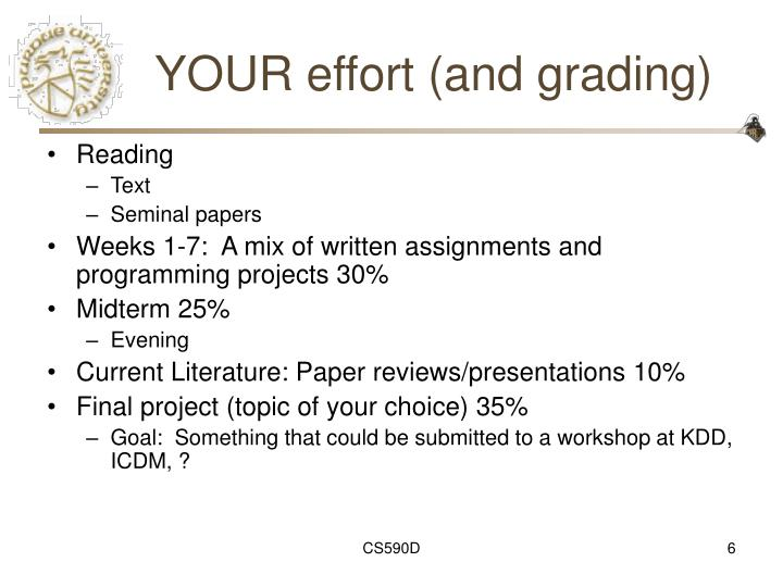 YOUR effort (and grading)