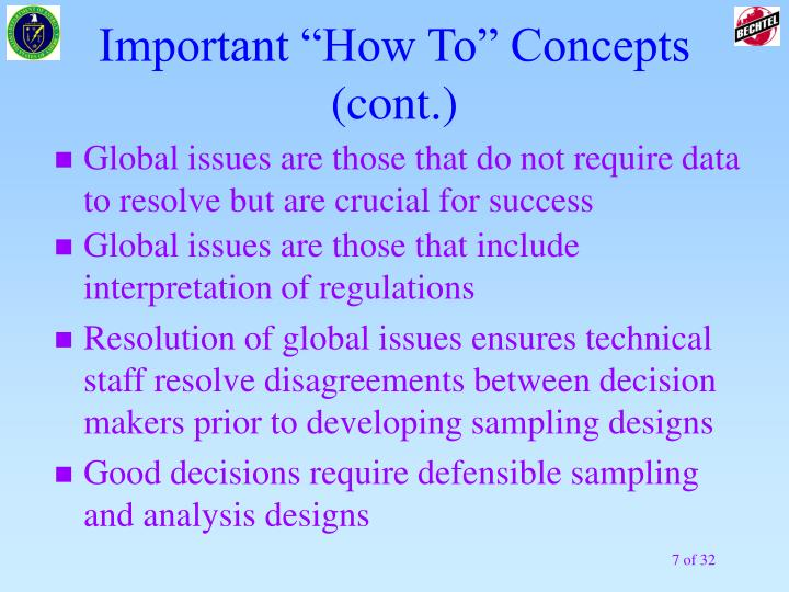 """Important """"How To"""" Concepts (cont.)"""