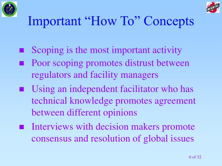 """Important """"How To"""" Concepts"""