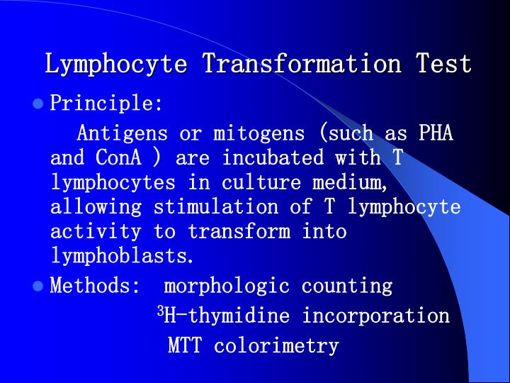 Lymphocyte Transformation Test