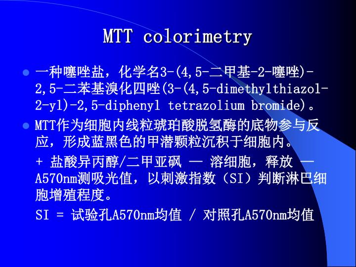 MTT colorimetry