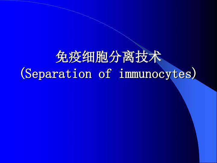 免疫细胞分离技术