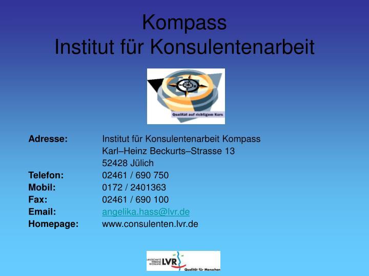 Adresse:
