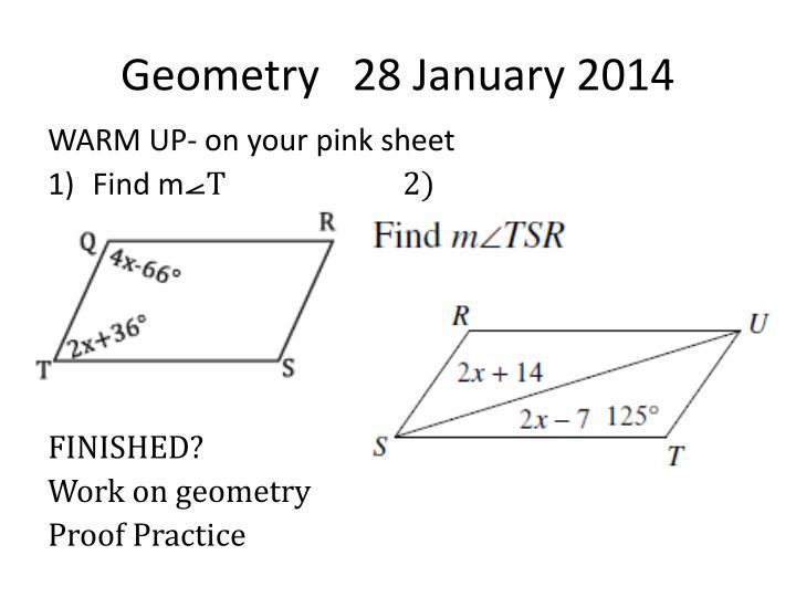 Geometry   28 January 2014