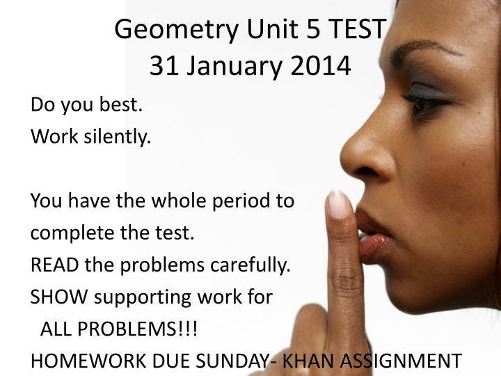 Geometry Unit 5 TEST