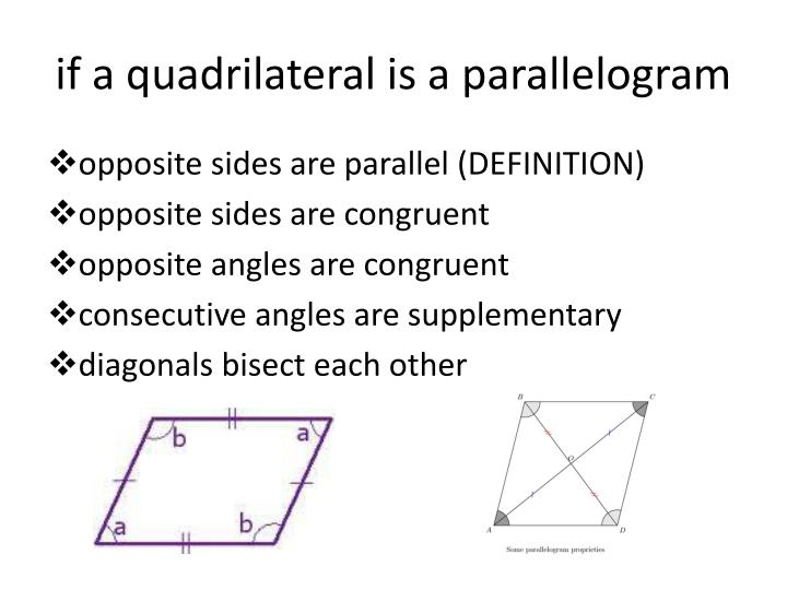 if a quadrilateral is a parallelogram