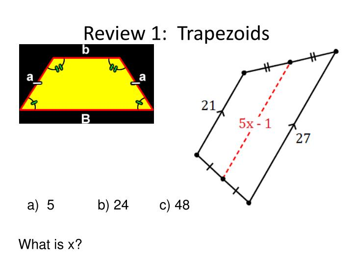 Review 1:  Trapezoids