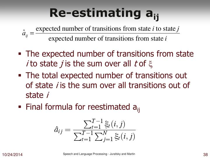 Re-estimating a