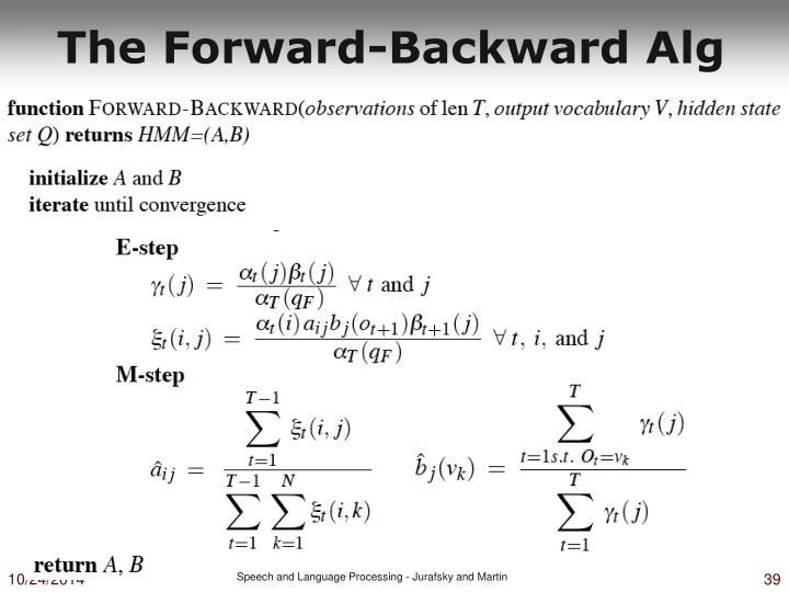 The Forward-Backward Alg