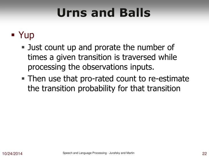 Urns and Balls