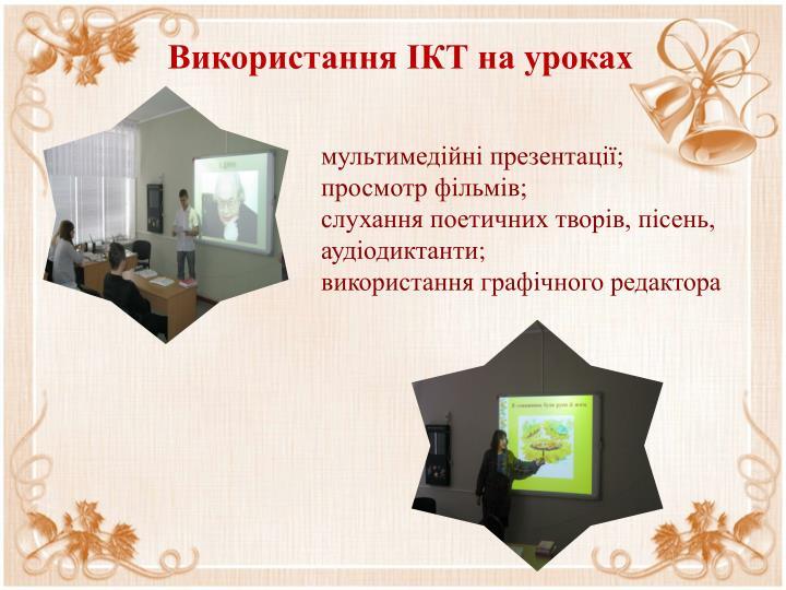 Використання ІКТ на уроках