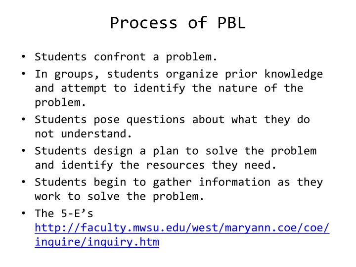 Process of PBL