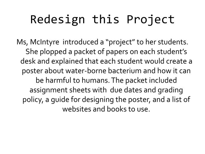 Redesign this Project