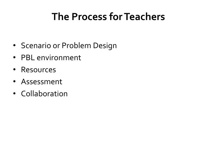 The Process for Teachers
