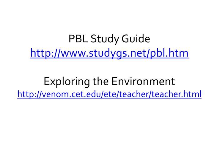 PBL Study Guide