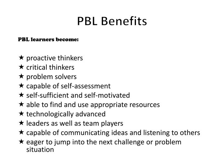 PBL Benefits