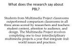 what does the research say about pbl4