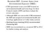 recurrent sep systemic injury from environmental exposure siee