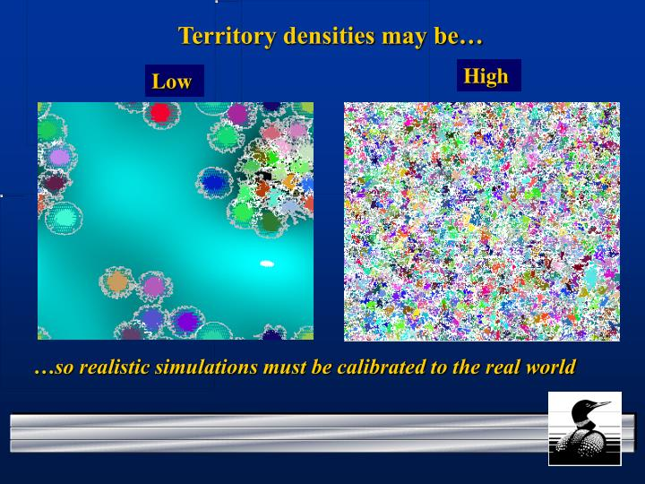 Territory densities may be…