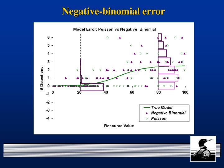Negative-binomial error