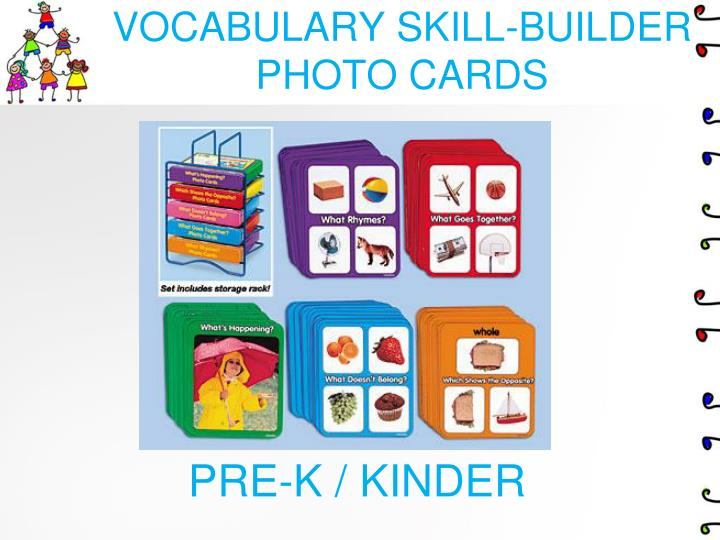 VOCABULARY SKILL-BUILDER PHOTO CARDS