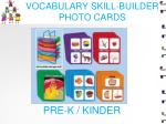 vocabulary skill builder photo cards
