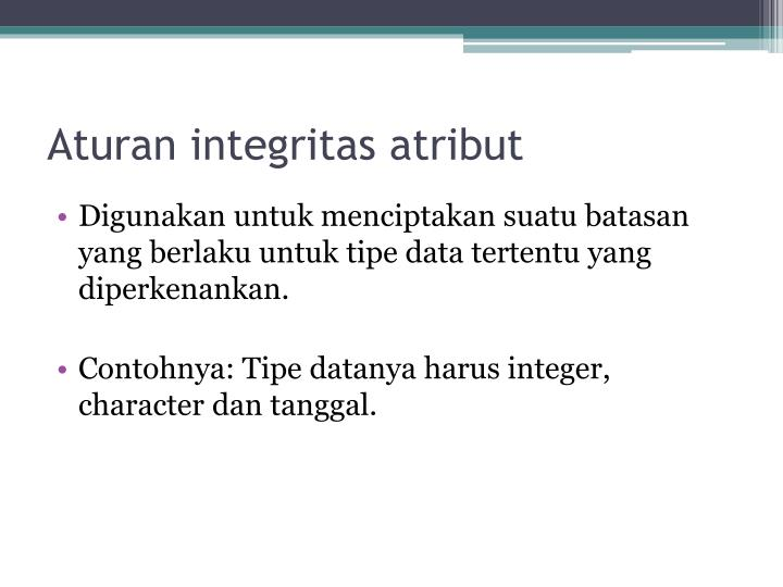 Aturan integritas atribut