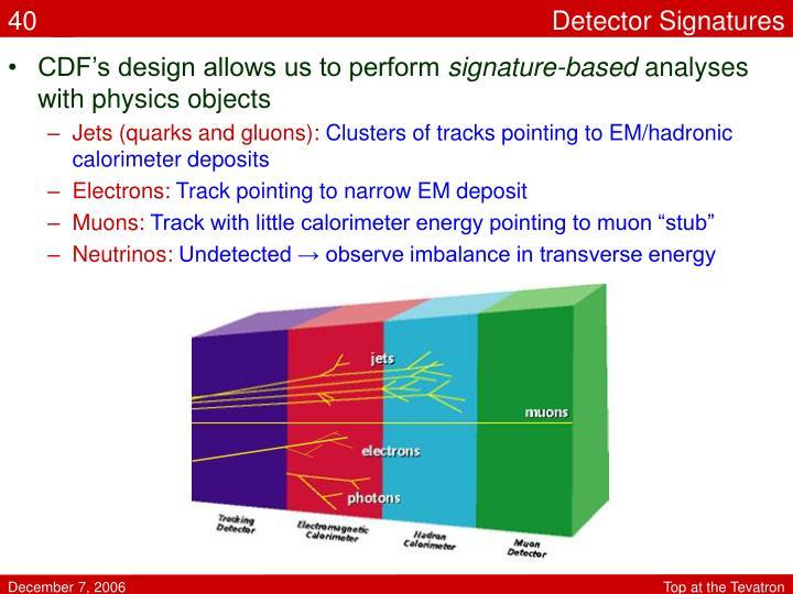 Detector Signatures