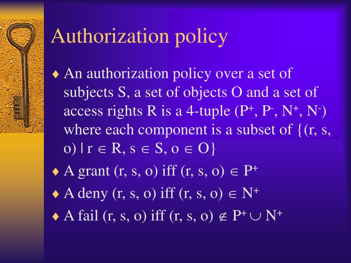 Authorization policy