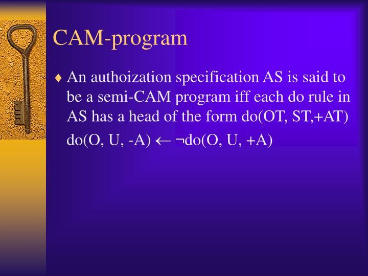 CAM-program