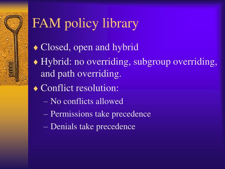 FAM policy library