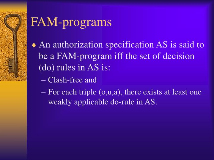 FAM-programs