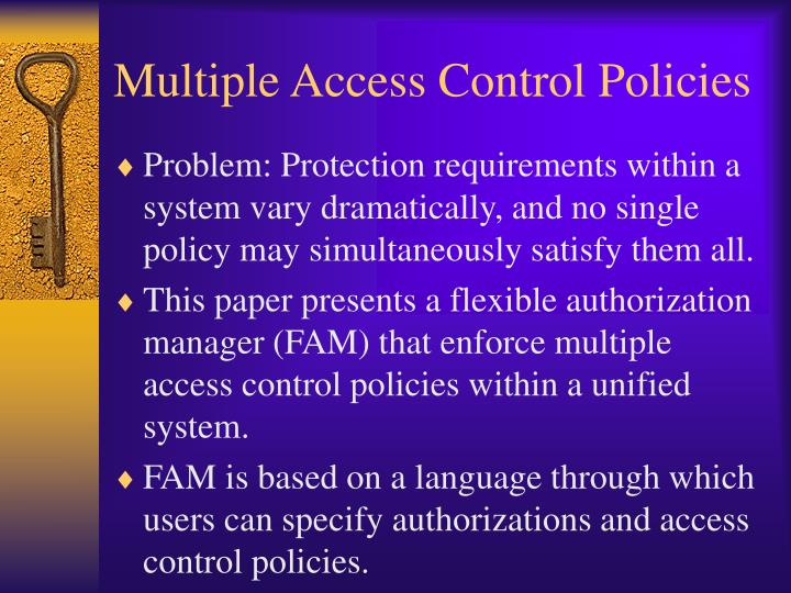 Multiple access control policies1