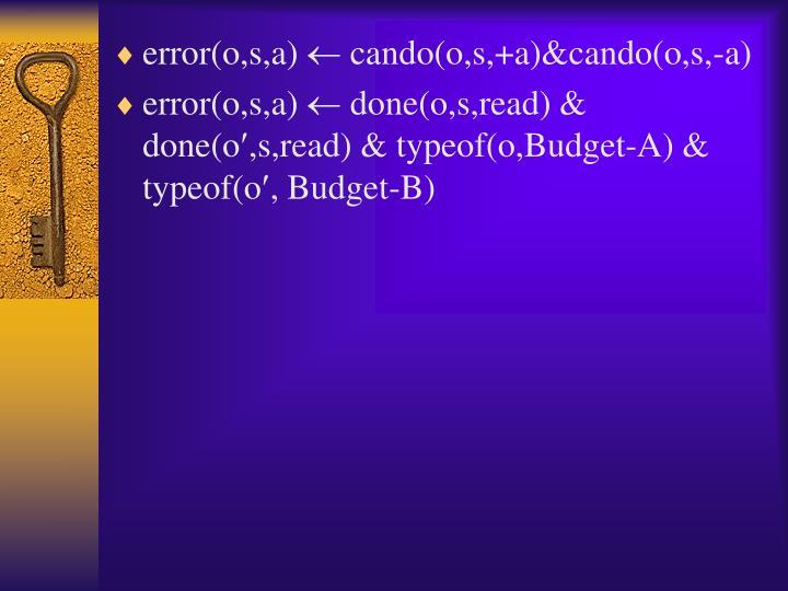 error(o,s,a)