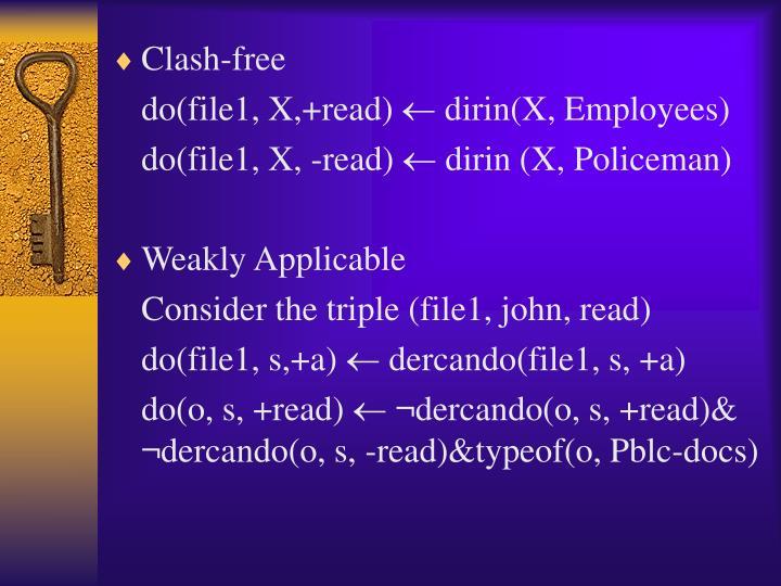 Clash-free