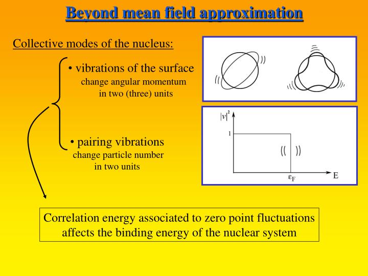 Beyond mean field approximation