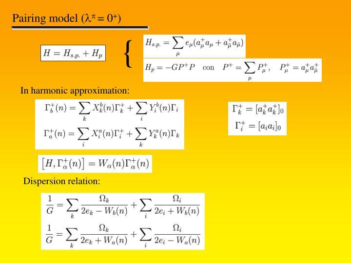 Modello di pairing (0+)