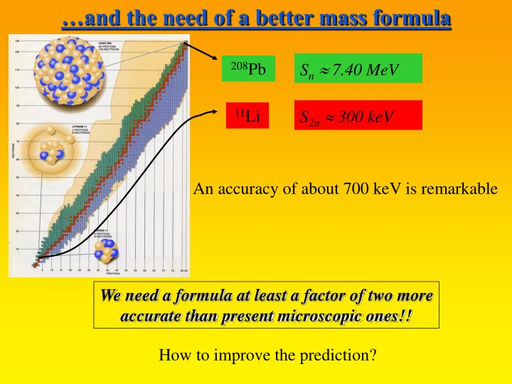 The need of a better formula