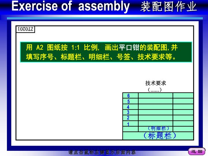 Exercise of  assembly